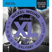 Струны для электрогитары D'Addario EXL115BT XL Balanced Tension Medium (6 струн .011-.050) фото