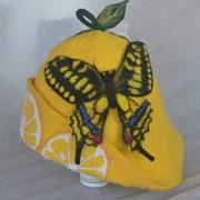"""Шапочка для бани (сауны) """"Лимон"""" фото"""