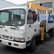 НОВЫЙ грузовик HYUNDAI HD120 с краном манипуляторам SOOSAN SCS335 из Ю.Кореи фото