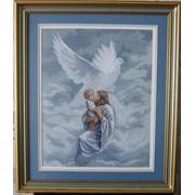 Картина вышитая Молитва о Святом Духе фото