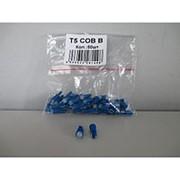 Лампа светодиодная Т5 (W2,0-4,6d) синяя, СОВ диод (б/цокольная малая) 12v фото