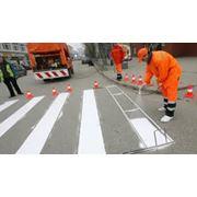 Разметка дорог парковок складов фото