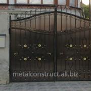 Кованые частные ворота №60 фото