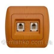Розетка телефонная двойная цифровая EL-BI фото