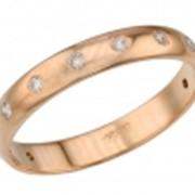 Обручальное кольцо с бриллиантами фото