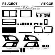 Peugeot 407 04' - ... WITHOUT NAVIGATION. RADIO GS Карбон, карбон+, алюминий фото