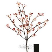 "Букет заснеженный ""Волшебные ягоды"", на батарейках, 50см, 30 LED ламп, теплый белый (Kaemingk) фото"