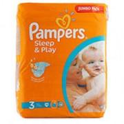 Подгузники PAMPERS Sleep and Play mini 3 (4-9кг), 78шт фото