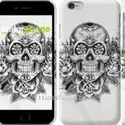 Чехол на iPhone 6 Череп и розы 1208c-45 фото
