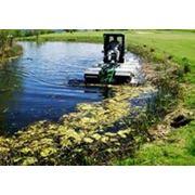 Очистка водоемов прудов озер фото