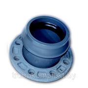 Патрубок раструбный для напорных труб НПВХ фото