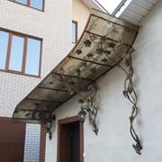 Изготовление кованых козырьков под заказ, Украина. фото