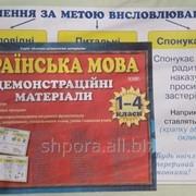Українська мова 1-4 класи Таблиці. Демонстраційні матеріали 48шт. (42-28 см.) фото