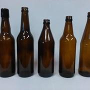 Стеклянная бутылка пивная коричневая объемом 0,5 л фото
