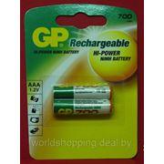 Аккумулятор Ni-MH GP 700mAh AAA (70AAAHC-BL2) 2 шт. фото