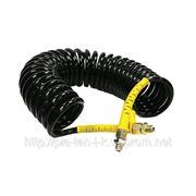 Шланг воздушный полиуретановый черный 7 м М16 х 1,5 желтые наконечники фото