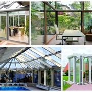 Скляні зимові сади, веранди, тераси, оранжереї з алюмінієвих профілів фото