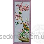 Набор для вышивки картины Птицы на сакуре 91х40см фото