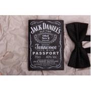 Обложка на паспорт Jack Daniel's кожзам фото