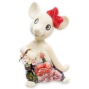 "Фигурка ""Мышка с цветами"" 7х10х5,5см. арт.JP-121/15 Pavone фото"