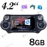 MP5 медиа плеер – игровая консоль с 4-х дюймовым экраном и встроенной памятью 8GB с камерой и FM радио фото