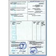 Сертификат происхождения СТ-1 фото