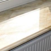 Подоконники из литого мрамора фото