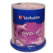 Диск DVD+R(плюс) VERBATIM 4,7Gb 16x 100шт. Cake Box 43551 фото