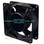 Вентилятор 220В DP200A2123XST, 120х120х38мм, втулка скольжения. фото