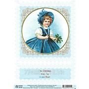 Декупажная карта Рождественская коллекция, девочка фото