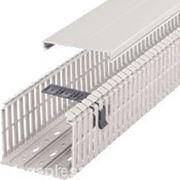 Перфорированный кабельный канал BA7A, 100x80, серый RAL 7030 фото