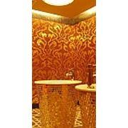 Золотая мозаика для екстерьерного и интерьерного украшения на основе листового золота и стекла фото