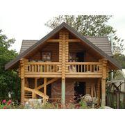 Дома  бани из оцилиндрованного бревна диаметром от 180 мм. до 400 мм. (лиственница сосна ель) фото
