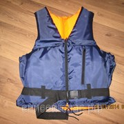 Спасательный страховочный жилет Волна синий фото