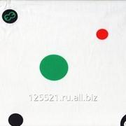Ткань Твил арт.31.05.07 белый, разноцвет.круги, арт. 10619 фото