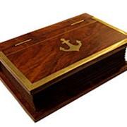 Шкатулка-книга из палисандра в морском стиле фото