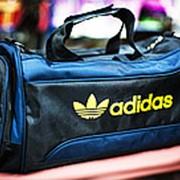 Спортивная дорожная сумка ADIDAS средняя 40х23х25см черная фото