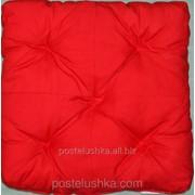 Подушка для сидения стеганая Puff Red 40x40x8 см Украина фотография