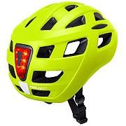 Шлем URBAN/CITY/MTB с фонариком CENTRAL Sld Mat Fluo Ylw 19отверстий 52-58см неоновый матовый KALI фото