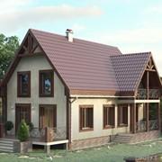 Проект дома в стиле «Прованс» D-163 фото