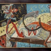 Картина Фигура, Поллок, Джексон фото