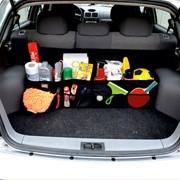 Автосумка - органайзер Bag 052 складная (96х23х23см) (4 отделения) черная фото