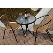 Садовый комплект-Стол и 2 кресла из ротанга фото