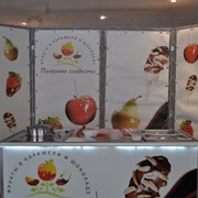 Продается доходный бизнес с прибылью от 100 000 рублей в месяц по приготовлению и продаже фруктов в карамели и шоколаде фото