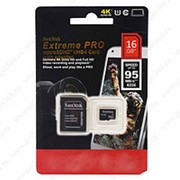 MicroSDHC Disk Extreme Pro 16 GB + фото