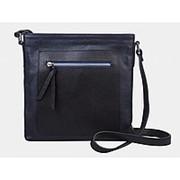 """Женская кожаная сумка """"Айова"""" (тёмно-синяя) фото"""