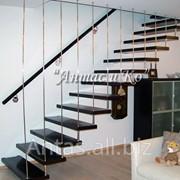 Лестница в стиле «Хай-Тек» на больцах фото