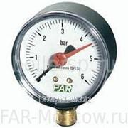"Манометр 1/4"", радиальное соединение, 0-10 бар, 20-80°C, D=63мм, артикул FA 2500 R10 фото"