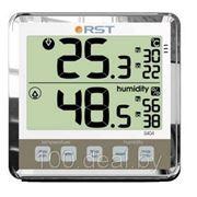 Цифровой термогигрометр RST 02404 с большим дисплеем, серебристый корпус фото