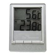Комнатно-уличный термометр TM1026 серебро фото